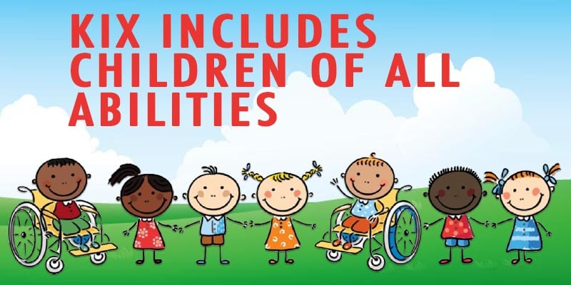 KIX includes children of all abilities.